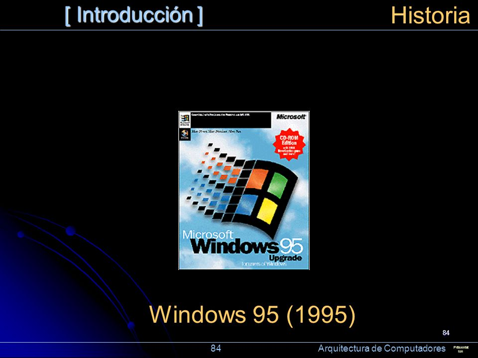 Historia Windows 95 (1995) [ Introducción ]
